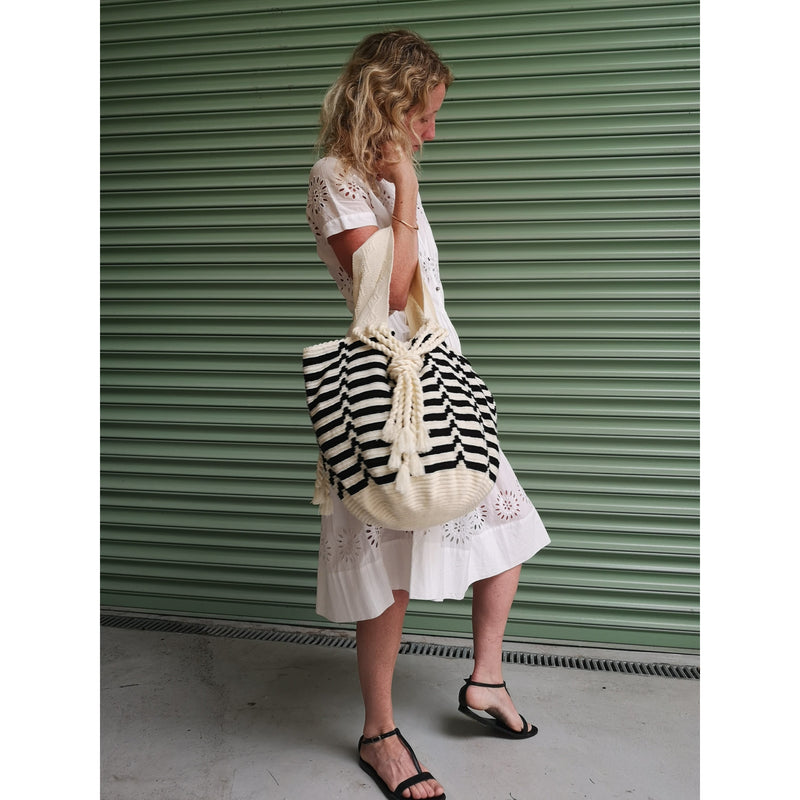 Black & White Frida - Exclusive - Sophie Anderson - Luxury Designer Bags - Artisan Women's Bags