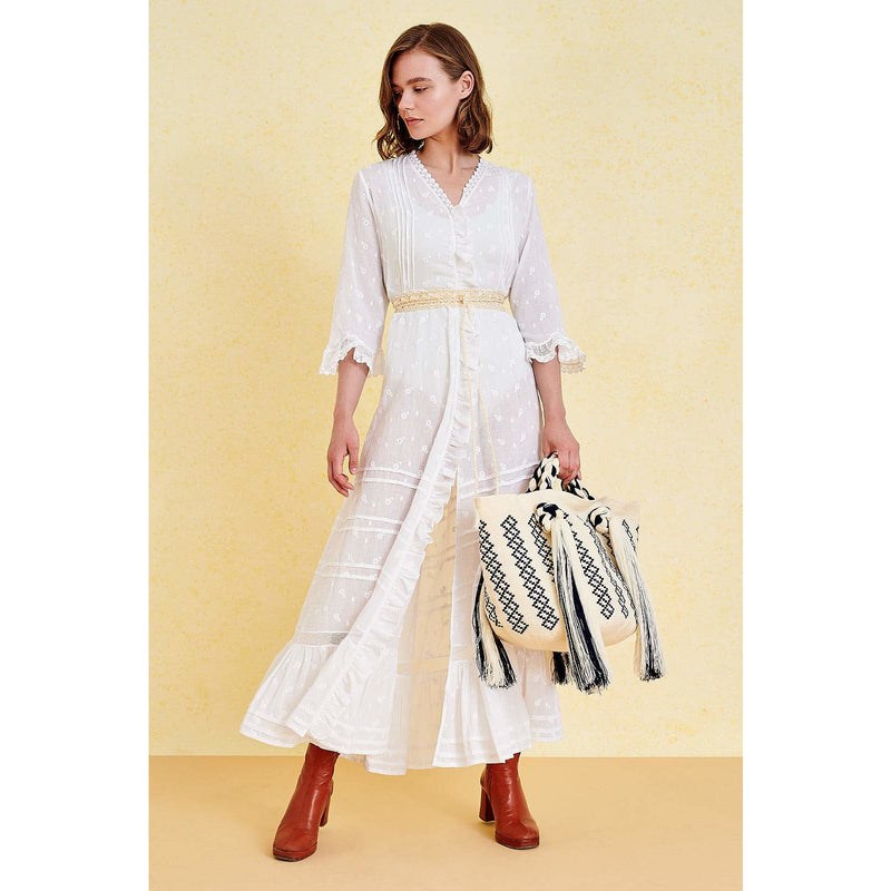 Agnes Button-up Dress - Sophie Anderson - Luxury Designer Bags - Artisan Women's Bags