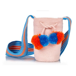 Lulu Mini pompom-embellished woven bucket bag - Sophie Anderson - Luxury Designer Bags - Artisan Women's Bags