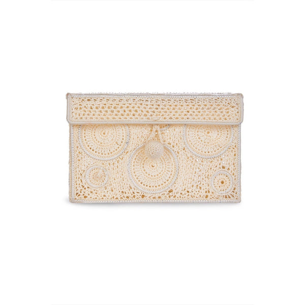 Embroidered Rectangular Crossbody and Clutch