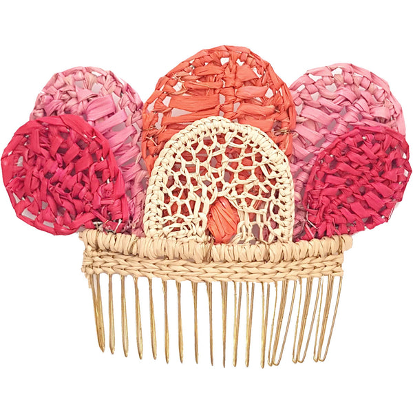 Garden Cosmos Small Hair Comb - Sophie Anderson - Luxury Designer Bags - Artisan Women's Bags