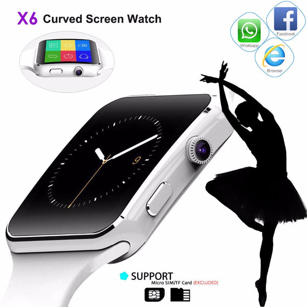 X6 Smart Watch with Camera & Touch Screen for Android - Best TWE Smartwatch  2018