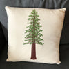 Redwood Tree Pillow - Alice Frost Studio