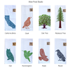 Two Kitchen Tea Towels with Bird, Animal and Tree Silhouette Art