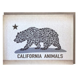 California Animals Grizzly Bear Card - Alice Frost Studio