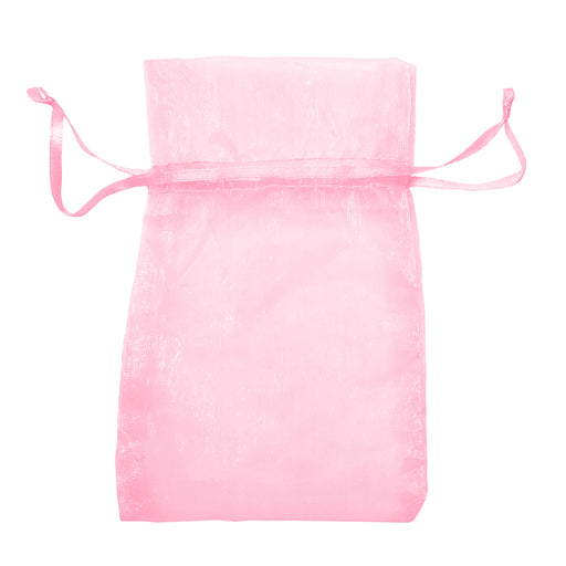 Pink Organza & Satin Bag - LooptyHoops