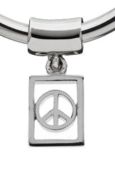 Modern Peace Tile Charm for Hoop Earrings