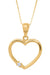 14k Yellow Gold Diamond Heart Necklace (medium) - LooptyHoops