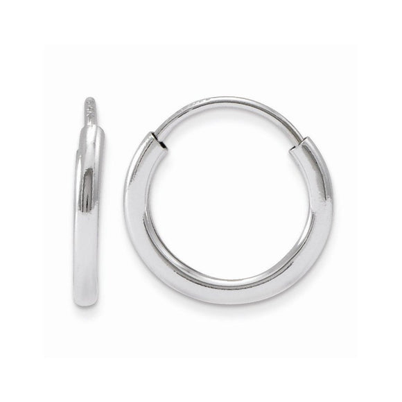 Small Sterling Silver EasyOn™ Hinged Continuous Endless Hoop Earrings, 1.25mm Tube