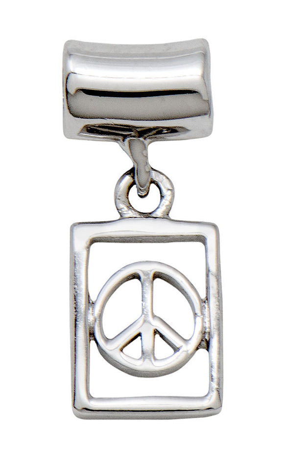 Modern Peace Tile Charm for Hoop Earrings & Chains