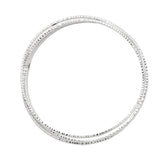 Sterling Silver Intertwining Tripled & Rippled Bangle Bracelets, 68mm