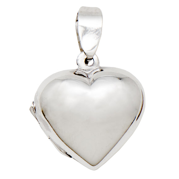 Tiny sterling silver heart shaped locket pendant