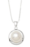 Your Choice: Sterling Silver Classic Freshwater Pearl Stud Earrings - OR - Matching Freshwater Pearl Pendant & Necklace - OR – Gift Set of All Three