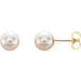 14K Yellow Gold AAA Cultured Freshwater Pearl Stud Earrings (5mm-7mm) - LooptyHoops