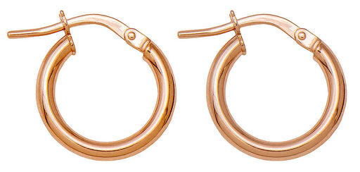 14k Rose Gold Classic High-Polish Hoop Earrings (2mm Thick), All Sizes - LooptyHoops