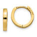 14k Yellow Gold Hinged Huggie Hoop Earrings (1.5mm) 0.4 inch (11mm) - LooptyHoops