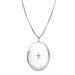 Sterling Silver Rhodium-Plated Diamond 26mm Oval Locket Pendant Necklace, w/18-Inch Chain - LooptyHoops