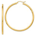 Large 14K Yellow Gold Lightweight Tube Hoop Earrings, (2.5mm Tube) All Sizes - LooptyHoops
