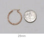 14K Rose Gold Diamond Cut Tube Hoop Earrings (2mm), All Sizes - LooptyHoops