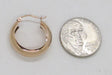 Medium 14K Rose Gold Tube Hoop Earrings w/ Flat Interior, .80 In (21mm) (2mm Tube) - LooptyHoops