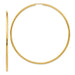 Large 14K Yellow Gold Continuous Endless Hoop Earrings, 2.75 In (70mm) (2mm Tube) - LooptyHoops