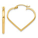 14k Yellow Gold Heart Shaped Hoop Earrings - LooptyHoops
