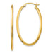 14K Yellow Gold Oval Hoop Earrings w/ Square Tube, All Sizes - LooptyHoops