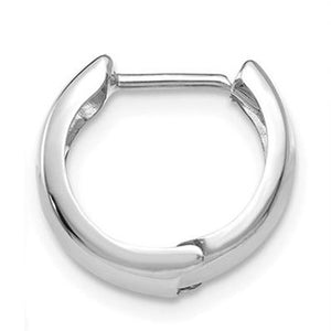 14k White Gold Hinged Hoop Earring