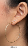14K Yellow Gold Diamond Cut Continuous Endless Hoop Earrings, (1.25mm Tube) All Sizes - LooptyHoops