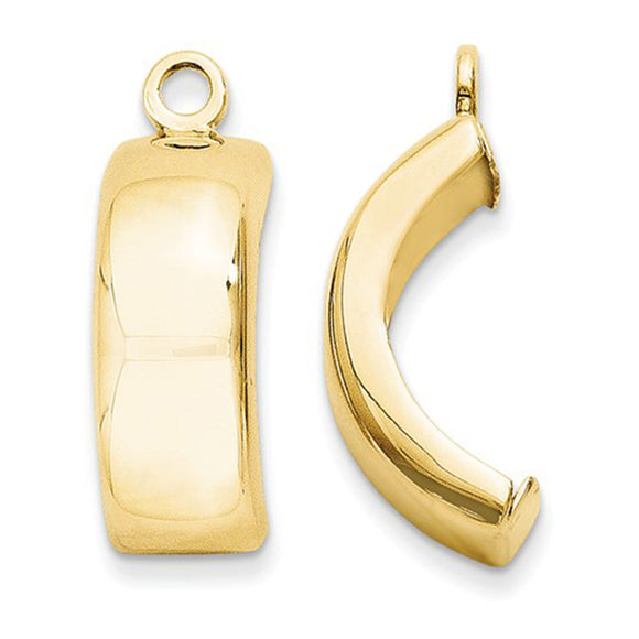 14k Yellow Gold Hoop Earring Jackets