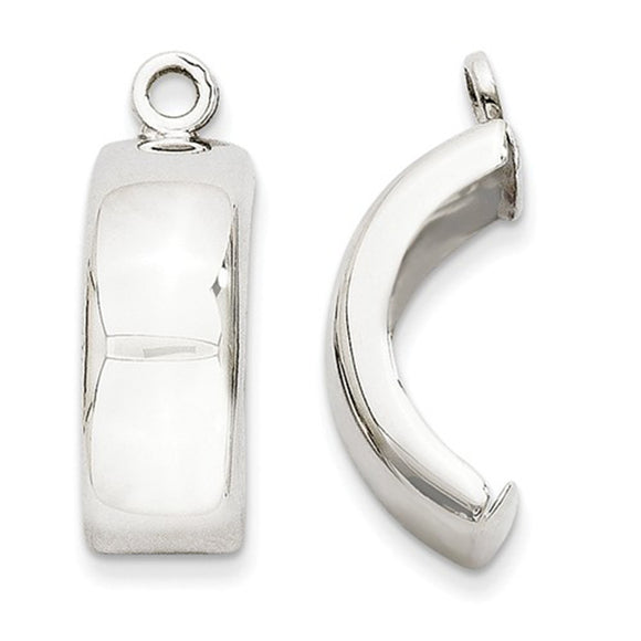 14k White Gold Charming Hoop Earring Jackets