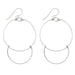 Handmade Sterling Silver Dangling Hoop-and-a-Half Hoop Earrings w/Hook Clasp, 47mm - LooptyHoops