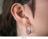 Sterling Silver Endless Hoop Earrings (2mm) All Sizes