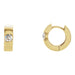 14K Yellow Gold Diamond Solitaire Hinged Huggie Hoop Earrings, 1/2ctw - LooptyHoops