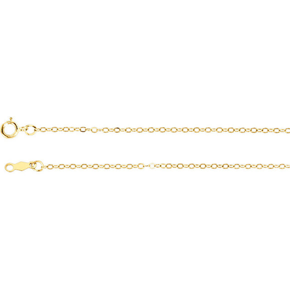 "14K Yellow Gold Twisted Wheat Chain Necklace, 18"" (1mm Wide)"