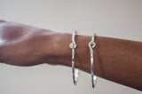 Handmade Electroplated Rippled Wire Bracelet - LooptyHoops