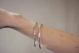 Handmade Electroplated Rippled Wire Bracelet