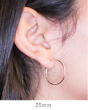 14k Rose Gold Hinged Thin Endless Hoop Earrings (1mm), All Sizes - LooptyHoops