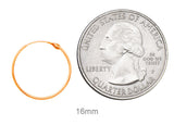 14k Rose Gold Hinged Thin Endless Hoop Earrings (1mm), All Sizes