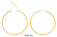 14k Yellow Gold Endless Hinged Hoop Earrings (2mm), All Sizes - LooptyHoops