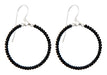 Handmade Dangling Beaded Hoop Earrings, 25mm - LooptyHoops