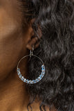 Handmade Bohemian Dangling Beaded Hoop Earrings, 42mm
