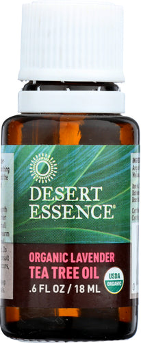 DESERT ESSENCE: Organic Lavender Tea Tree Oil, 0.6 oz
