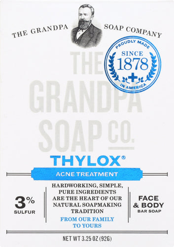 GRANDPA'S: Bar Soap Thylox Acne Treatment with Sulfur, 3.25 oz