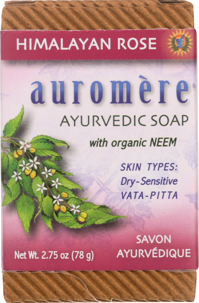 AUROMERE: Soap Bar Himalayan Rose 2.75 oz