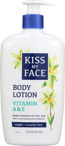 KISS MY FACE: Vitamin A & E Moisturizer, 16 oz
