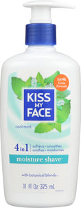 KISS MY FACE: Moisture Shave Cool Mint, 11 oz