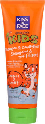 KISS MY FACE: Kids 2 in 1 Orange Shampoo & Conditioner, 8 oz
