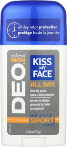KISS MY FACE: Deodorant Energizing Sport, 2.48 oz