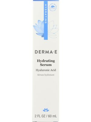 DERMA E: Hydrating Serum with Hyaluronic Acid, 2 Fl oz